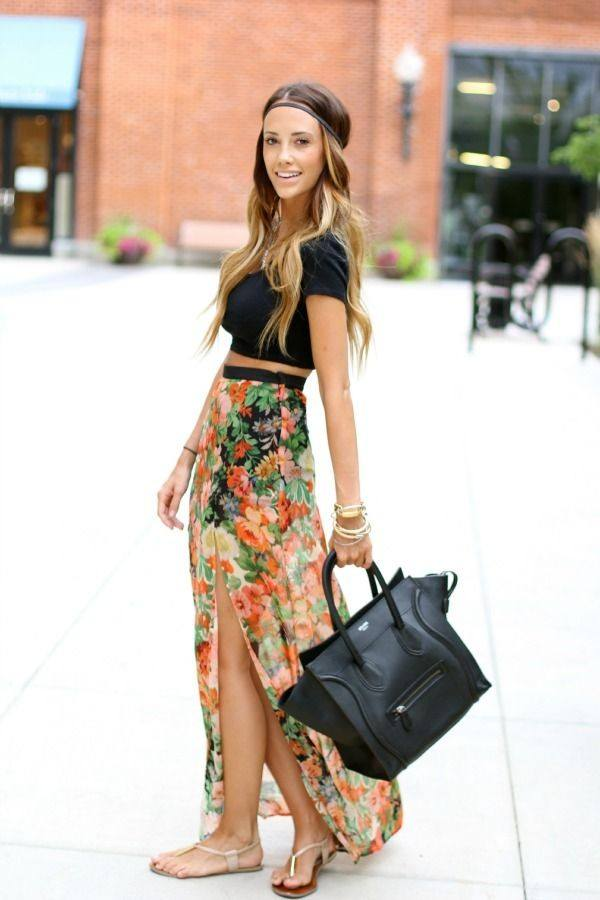 sheer-skirt-with-flowers Outfits with Sheer Skirts- 20 Ideas How to Wear Sheer Skirts