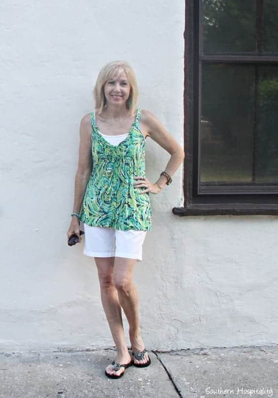 shorts-and-top-for-women-over-50 30 Best Summer Outfits for Women Above 50 - Style Tips