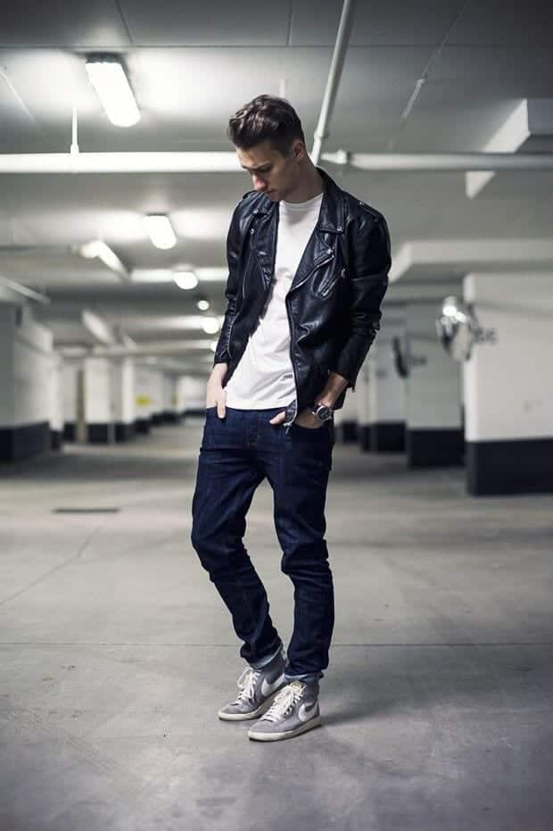 street-style-1 Men Outfits with Blue Jeans-27 Ways to Style Guys Blue Jeans