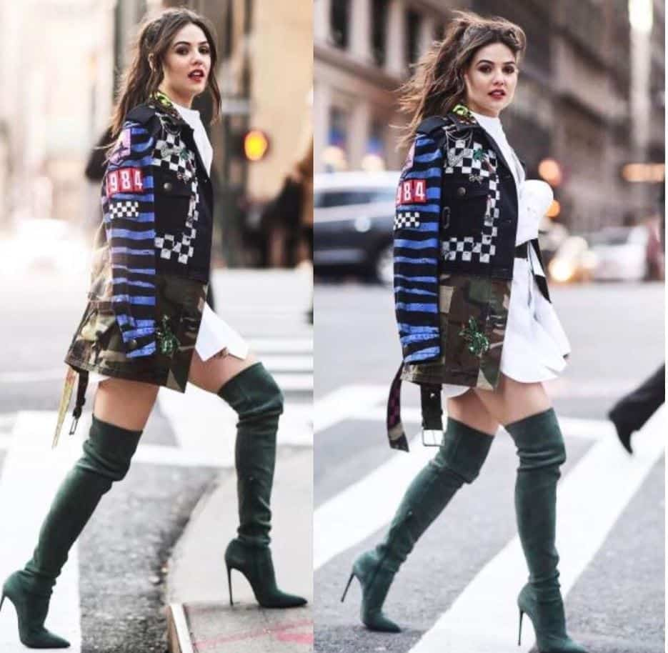 stylish-jacket-over-frock College Girls Dressing–18 Ideas & Tips to Dress Well in College