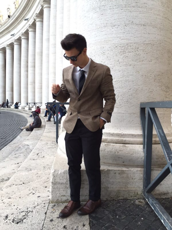 with-blazer-1 30 Best Men's Outfit Ideas to Wear with Monk Strap Shoes