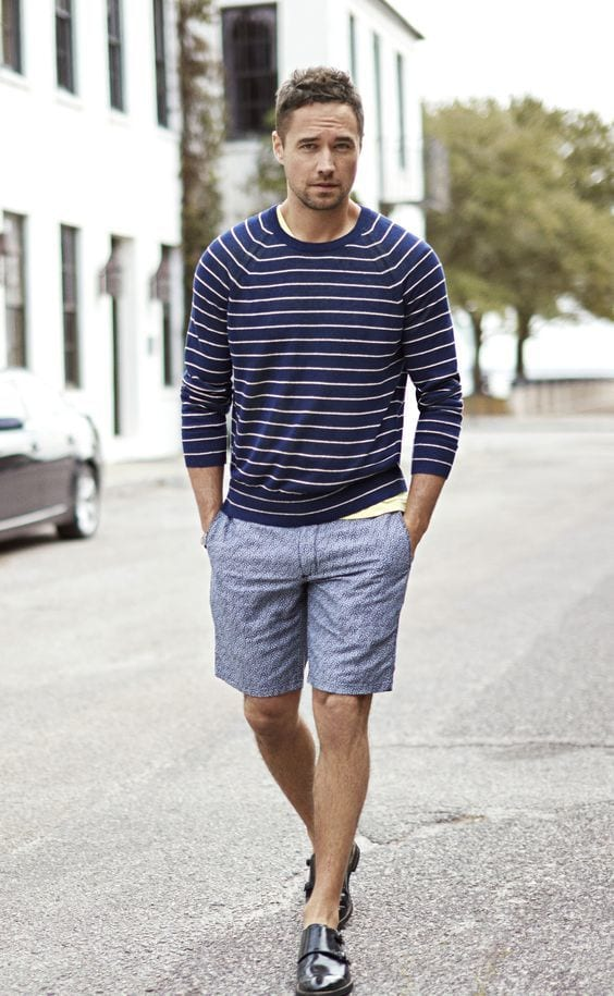 with-shirt 30 Best Men's Outfit Ideas to Wear with Monk Strap Shoes