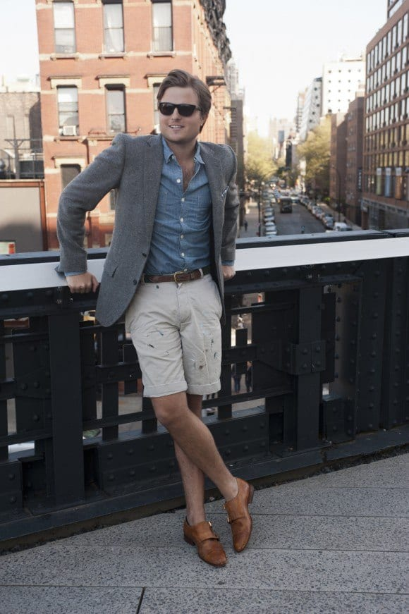 with-shorts 30 Best Men's Outfit Ideas to Wear with Monk Strap Shoes