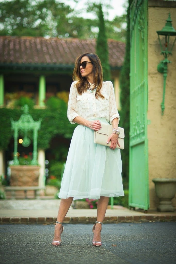 how to wear mint colored skirts (2)
