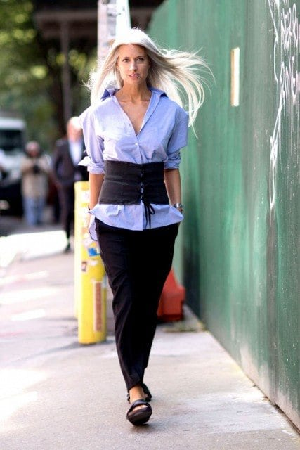 work-outfit-corset-belt Girls Corset Belt Outfits-30 Ideas How to Wear a Corset Belt