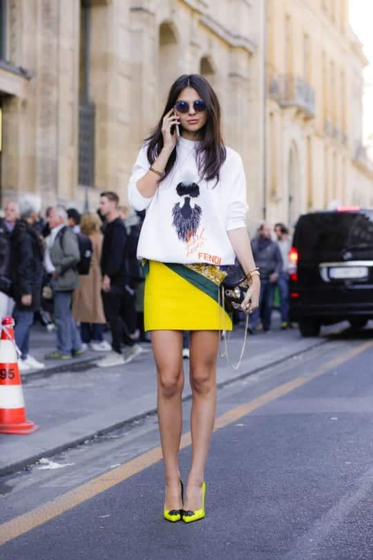 how to wear yellow skirt (13)