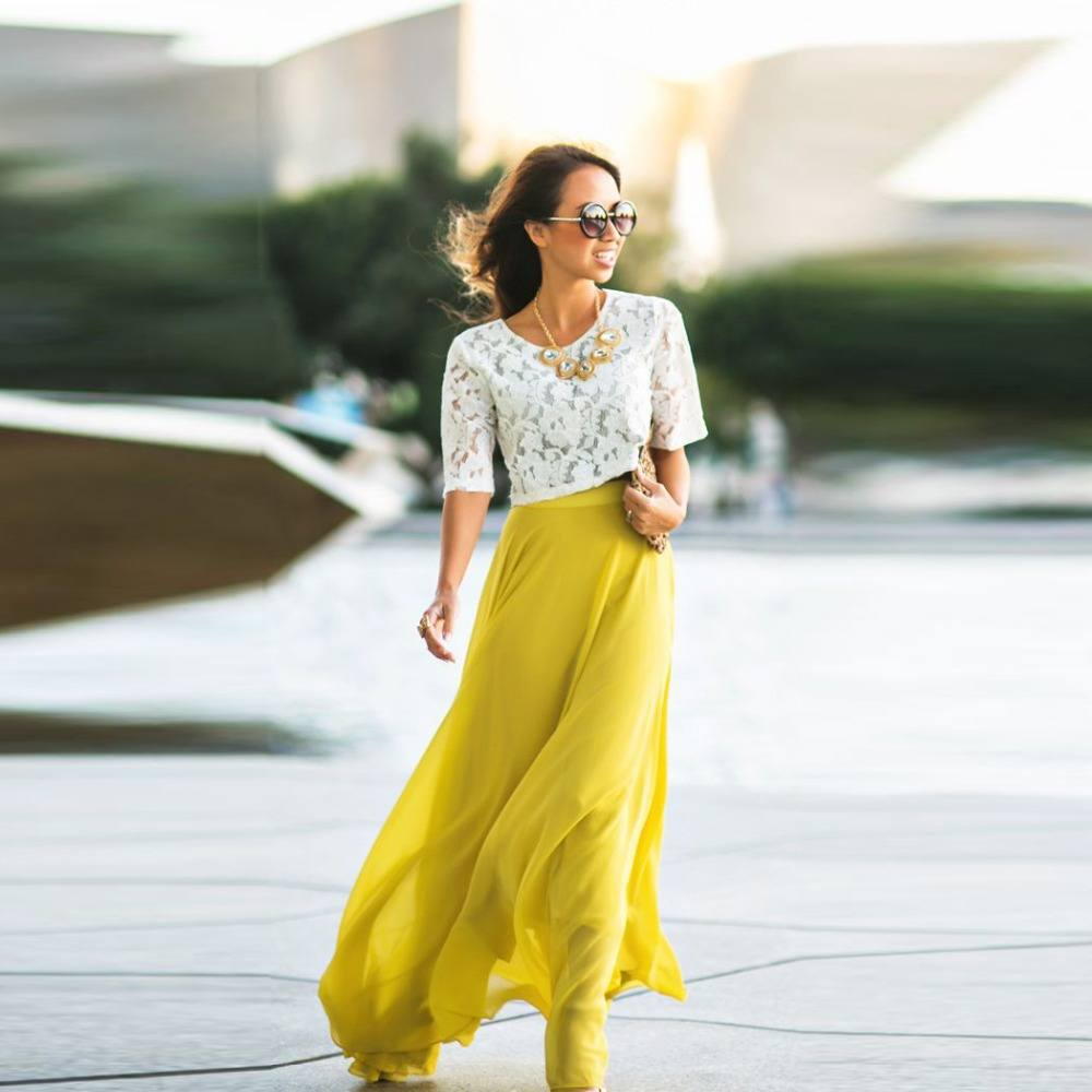 how to wear yellow skirt (14)