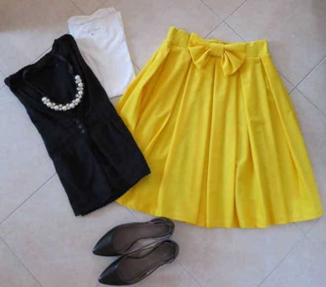 how to wear yellow skirt (25)