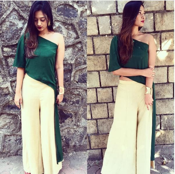 zoonafolder 20 Outfit Ideas to Wear Short Shirts with Palazzo Pants