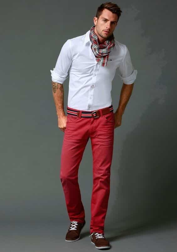 10-1 Men Outfits with Red Pants-30 Ways for Guys to Wear Red Pants
