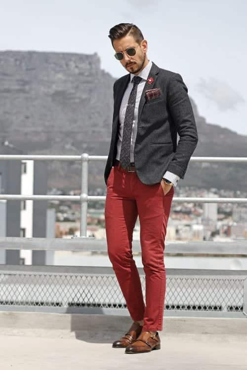 17-1 Men Outfits with Red Pants-30 Ways for Guys to Wear Red Pants