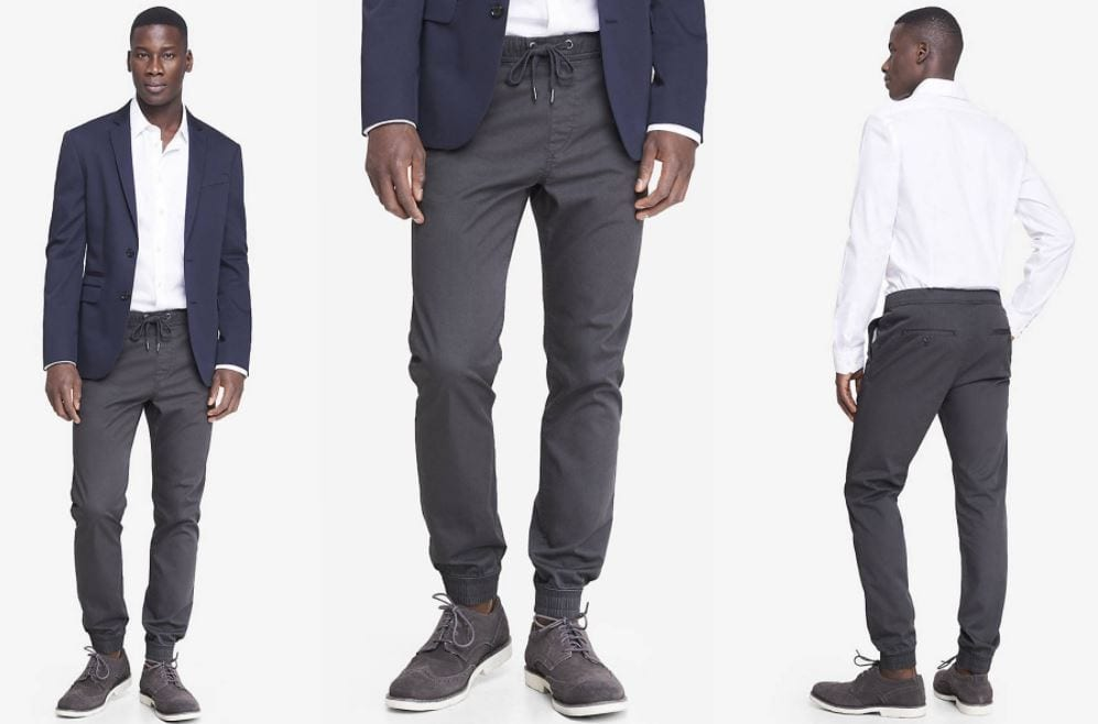 How to Wear Sweatpants to Office