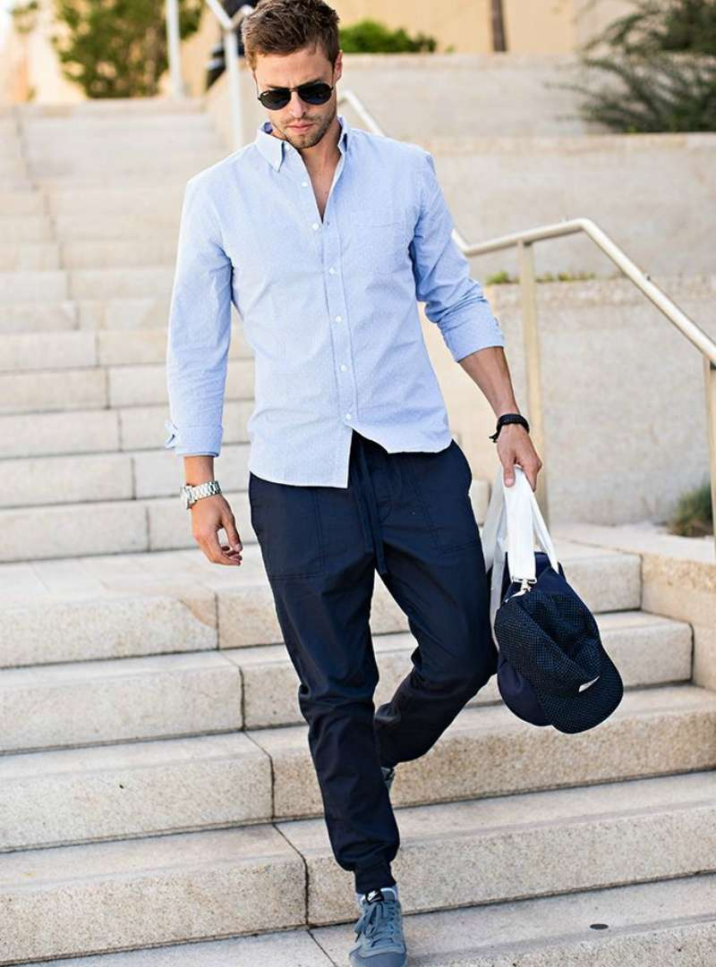 2-4 Men's Outfit with Jogger Pants- 30 Ways to Wear Jogger Pants