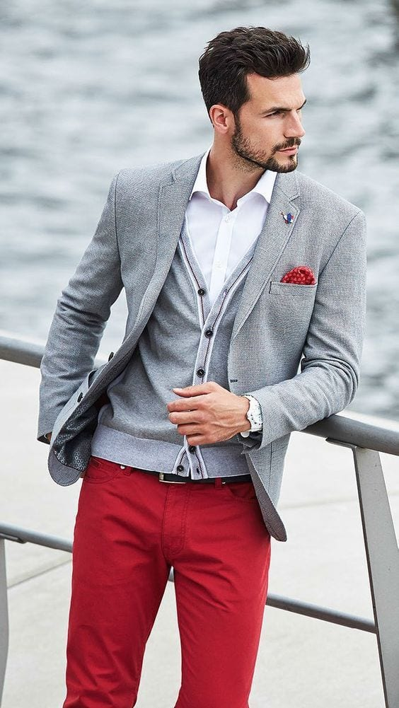 20-1 Men Outfits with Red Pants-30 Ways for Guys to Wear Red Pants
