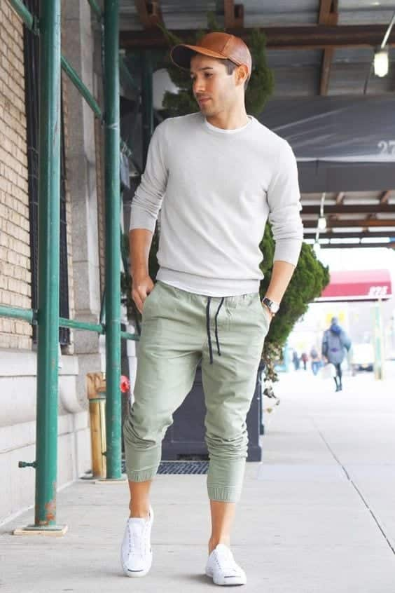 20-2 Men's Outfit with Jogger Pants- 30 Ways to Wear Jogger Pants