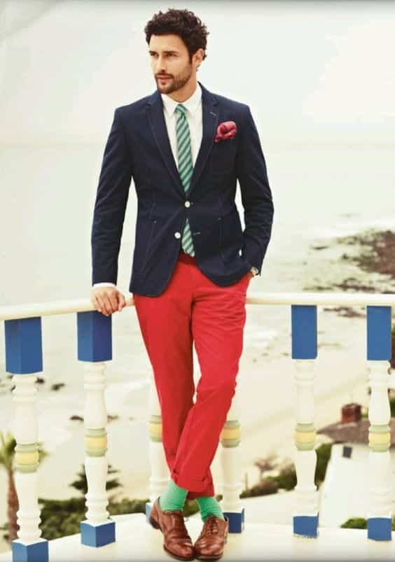 3-2 Men Outfits with Red Pants-30 Ways for Guys to Wear Red Pants