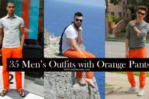 how to wear orange pants for men (1)