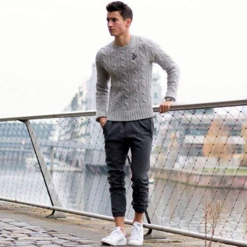 4-3 Men's Outfit with Jogger Pants- 30 Ways to Wear Jogger Pants