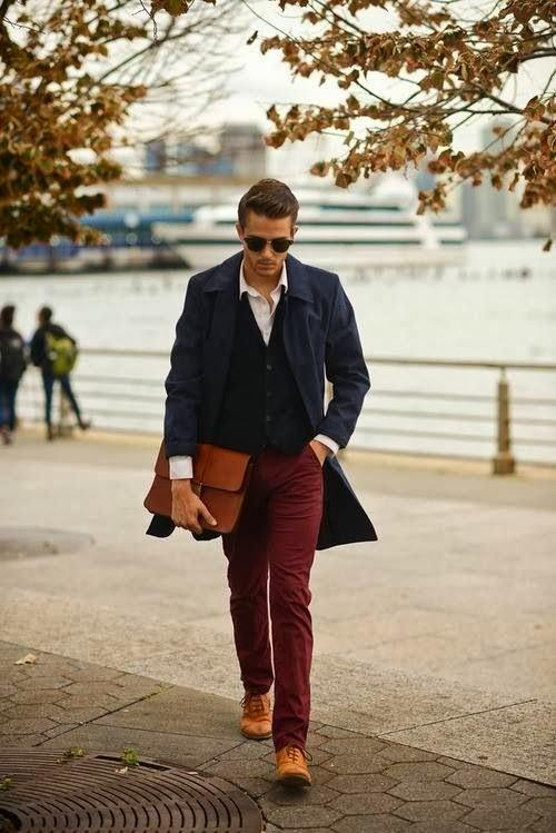 5-2 Men Outfits with Red Pants-30 Ways for Guys to Wear Red Pants