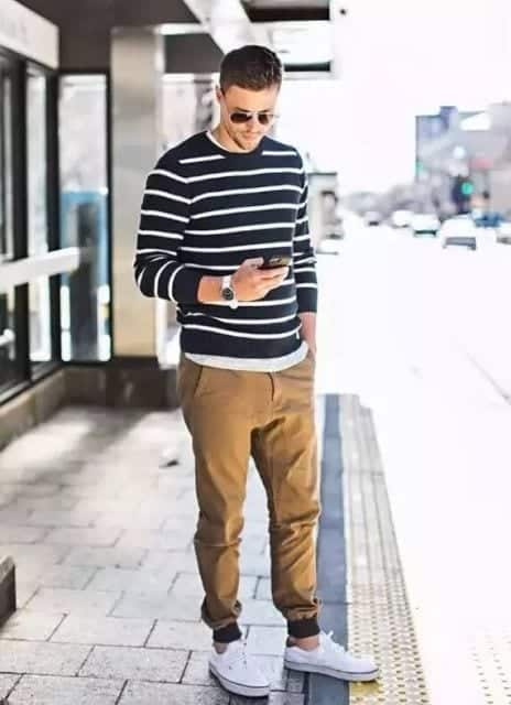 6-3 Men's Outfit with Jogger Pants- 30 Ways to Wear Jogger Pants
