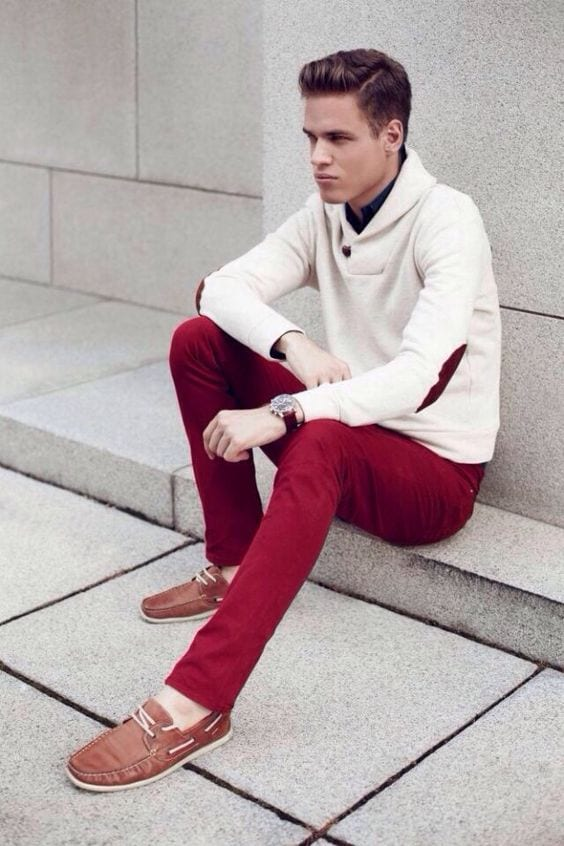 7-2 Men Outfits with Red Pants-30 Ways for Guys to Wear Red Pants