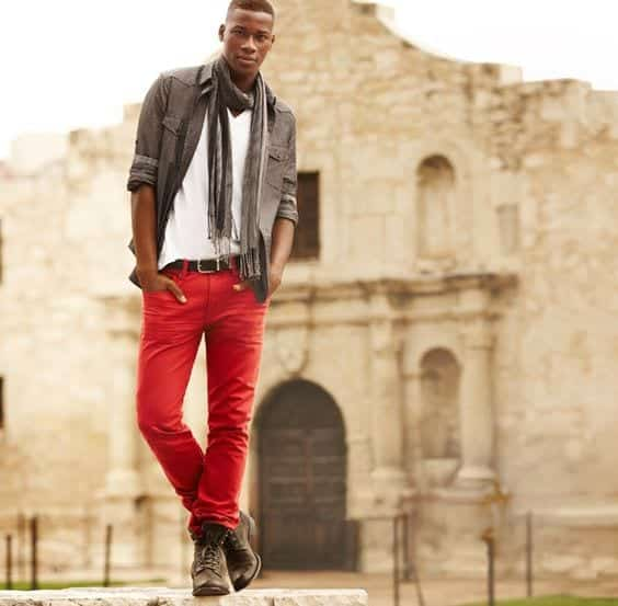 8-2 Men Outfits with Red Pants-30 Ways for Guys to Wear Red Pants