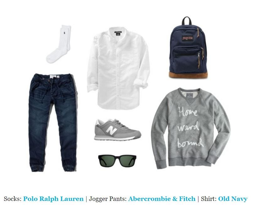 8-3 Men's Outfit with Jogger Pants- 30 Ways to Wear Jogger Pants