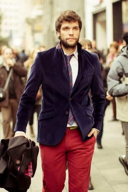 9-2 Men Outfits with Red Pants-30 Ways for Guys to Wear Red Pants