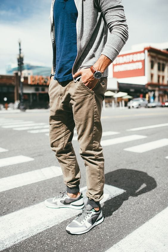 9-3 Men's Outfit with Jogger Pants- 30 Ways to Wear Jogger Pants