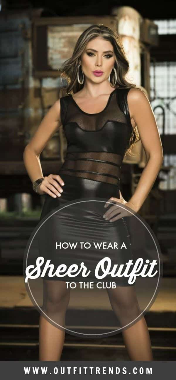 CLUB-SHEER-OUTFIT Girls Sheer Club Dresses - 27 Sheer Outfits for Clubbing
