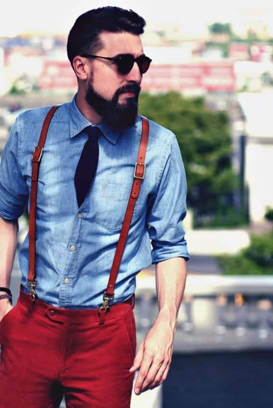 Capture Men Outfits with Red Pants-30 Ways for Guys to Wear Red Pants
