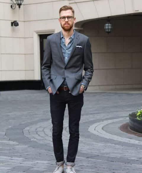 How-To-Style-Black-Pants-With-A-Dinner-Jacket Black Pants Outfits For Men-29 Ideas How To Style Black Pants