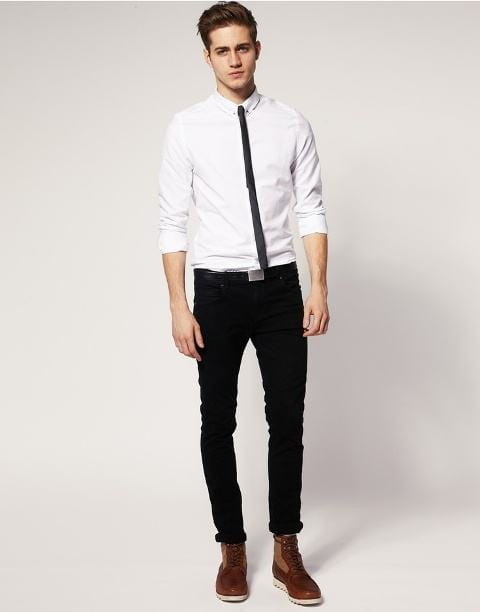 How-To-StyleBlack-Pants-With-Thin-Ties Black Pants Outfits For Men-29 Ideas How To Style Black Pants