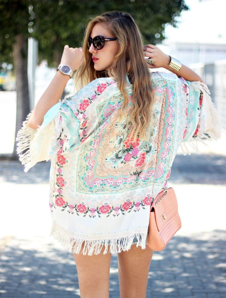 Multicolor-Kimono 17 Super Funky Outfits for Women Worth Trying