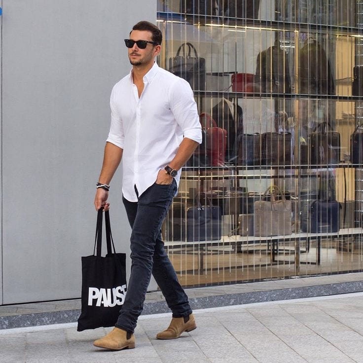 Shopping-Outfit-With-Black-Pants Black Pants Outfits For Men-29 Ideas How To Style Black Pants
