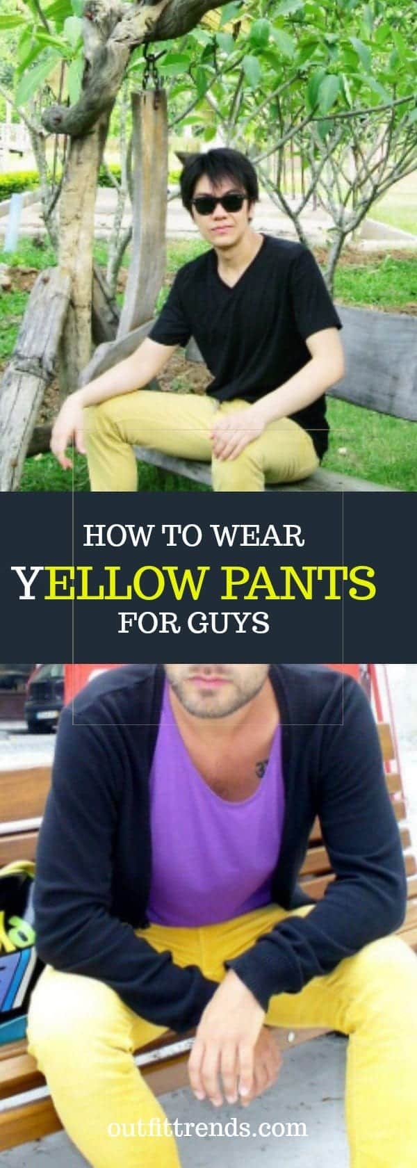 Sugar-Cookies-Are-Bomb Men's Yellow Pants Outfits-35 Best Ways to Wear Yellow Pants
