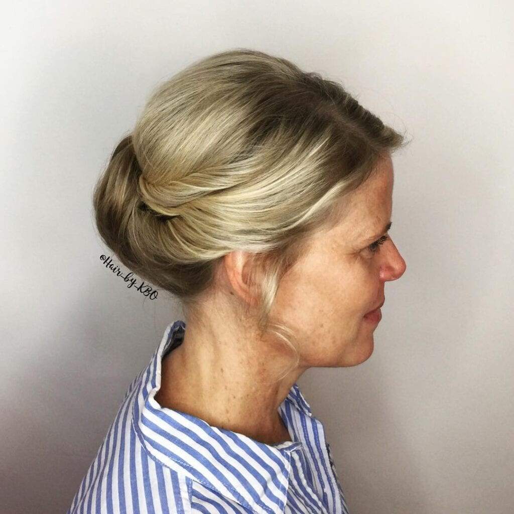 Tied-Up-Hairstyle-For-Above-50-1024x1024 20 Amazing Hairstyle & Haircut Ideas For Women Above 50