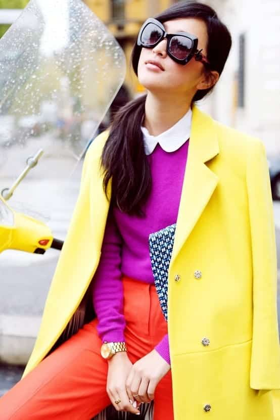Yellow-Blazer-and-Orange-Pants 17 Super Funky Outfits for Women Worth Trying