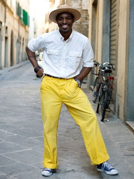 dance-outfit-2 Men's Yellow Pants Outfits-35 Best Ways to Wear Yellow Pants