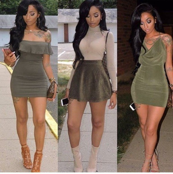 green-outfit Girls Casual Club Attire-30 Best Casual Outfits for Clubbing