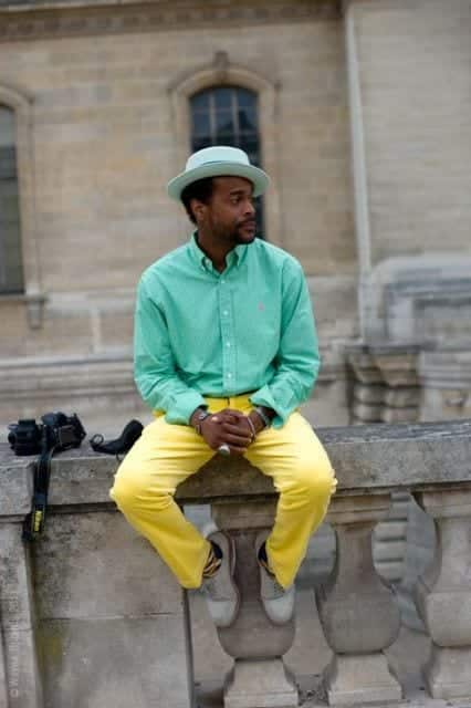 hipster-outfit-1 Men's Yellow Pants Outfits-35 Best Ways to Wear Yellow Pants
