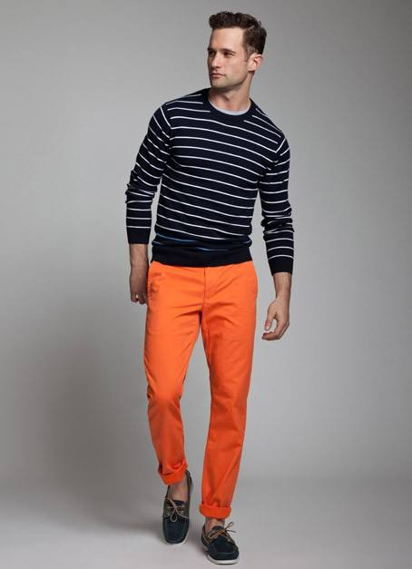 how to wear orange pants for men (25)