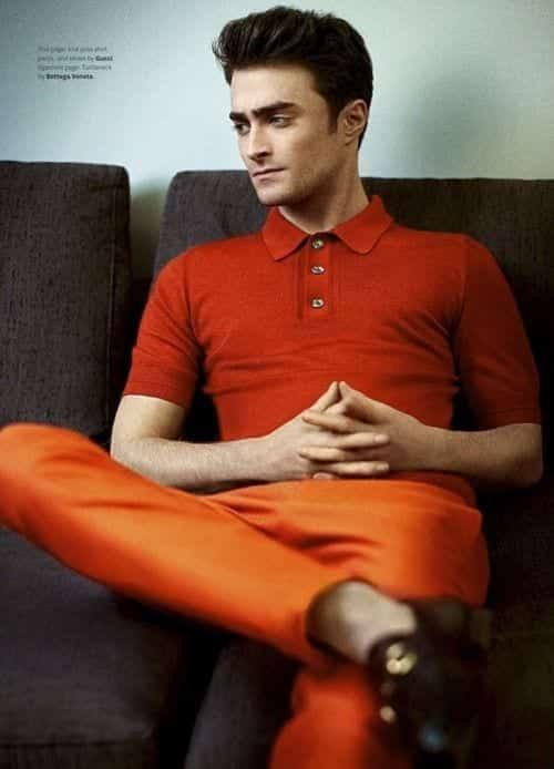 orange-cropped-pants Men's Orange Pants Outfits-35 Best Ways to Wear Orange Pants