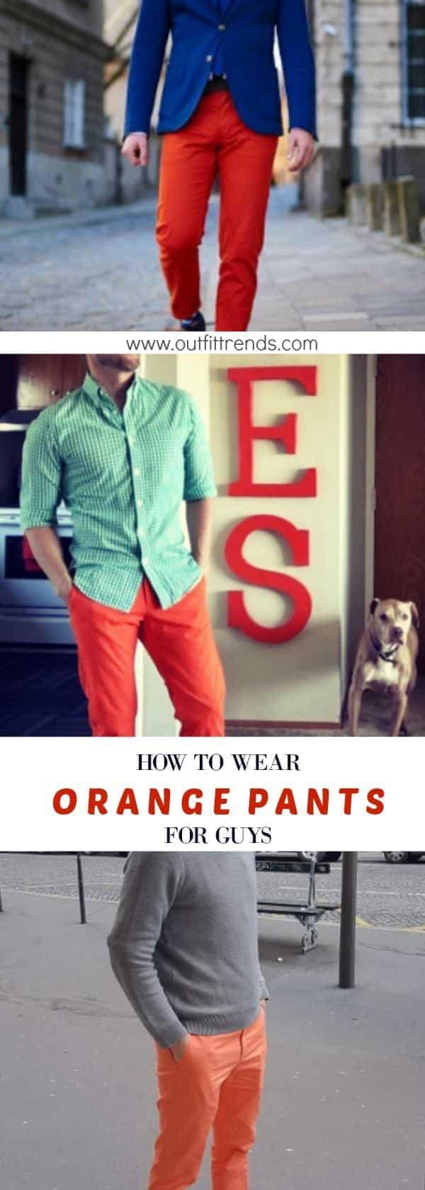 orange Men's Orange Pants Outfits-35 Best Ways to Wear Orange Pants
