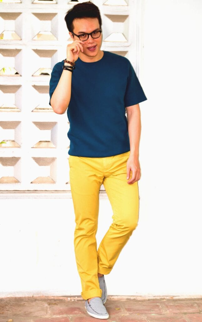 school-outfit-1-645x1024 Men's Yellow Pants Outfits-35 Best Ways to Wear Yellow Pants