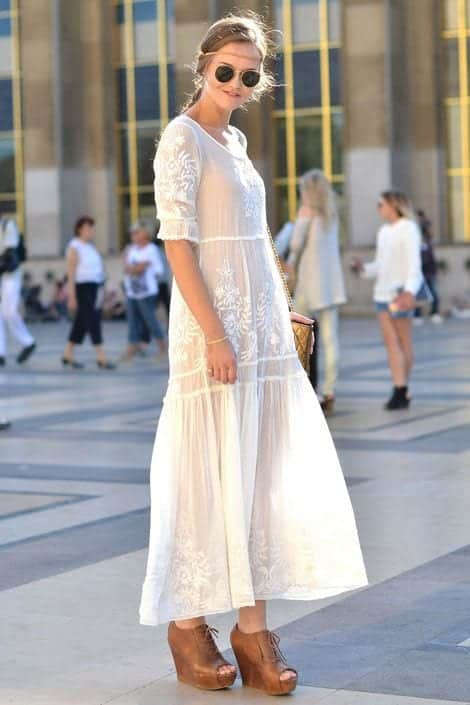 see-through-maxi See-Through Outfits Girls-30 Ideas on How to Wear Sheer Outfits