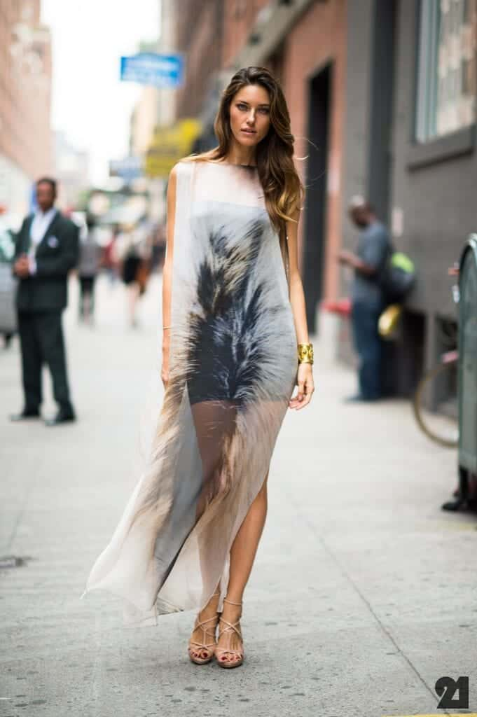 sheer-party-dress-681x1024 See-Through Outfits Girls-30 Ideas on How to Wear Sheer Outfits