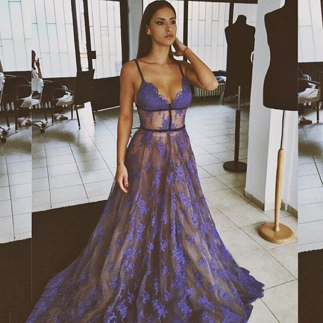 sheer-prom-dress See-Through Outfits Girls-30 Ideas on How to Wear Sheer Outfits