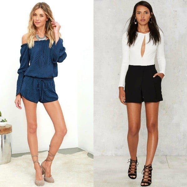 shorts-1 Girls Casual Club Attire-30 Best Casual Outfits for Clubbing