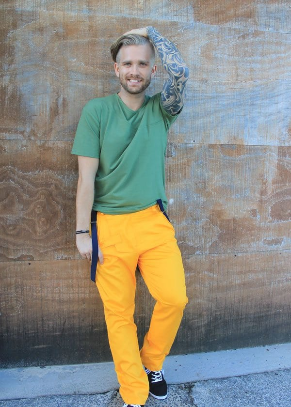 spring-outfit-2 Men's Yellow Pants Outfits-35 Best Ways to Wear Yellow Pants